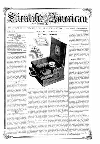 Scientific American - Oct 17, 1857 (vol. 13, #6)