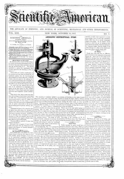 Scientific American - Oct 24, 1857 (vol. 13, #7)