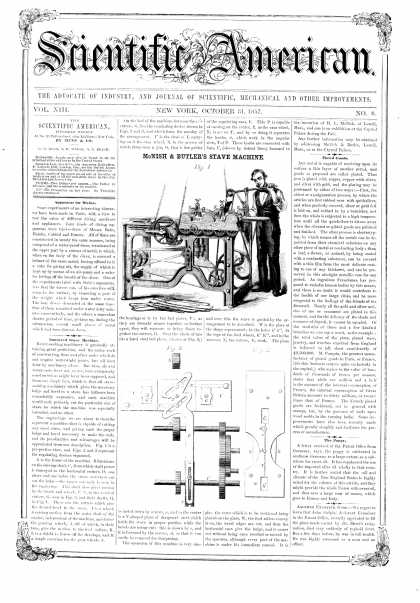 Scientific American - Oct 31, 1857 (vol. 13, #8)
