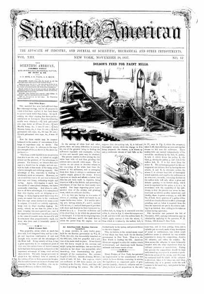 Scientific American - Nov 28, 1857 (vol. 13, #12)