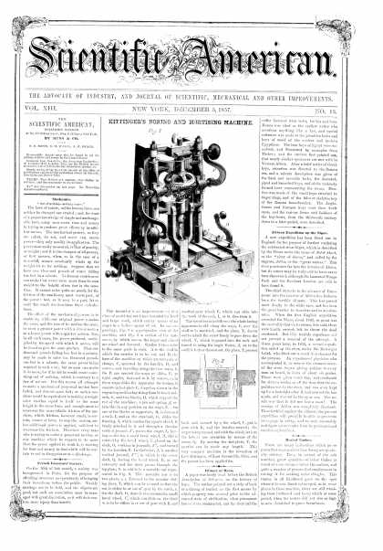 Scientific American - Dec 5, 1857 (vol. 13, #13)