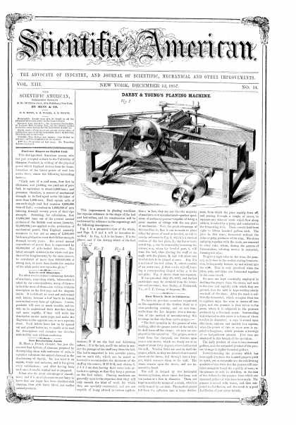 Scientific American - Dec 12, 1857 (vol. 13, #14)