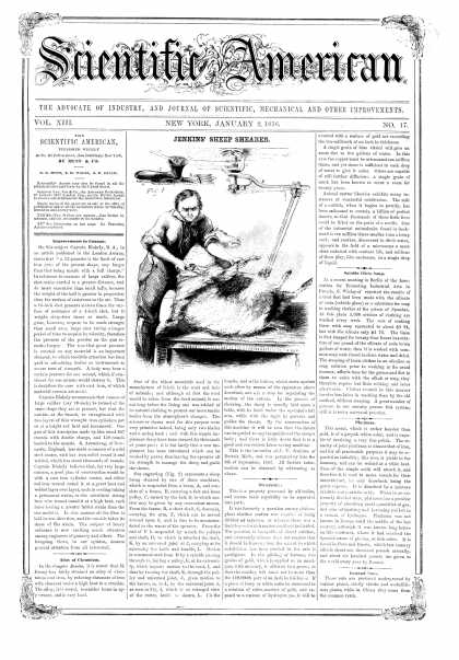Scientific American - Jan 2, 1858 (vol. 13, #17)