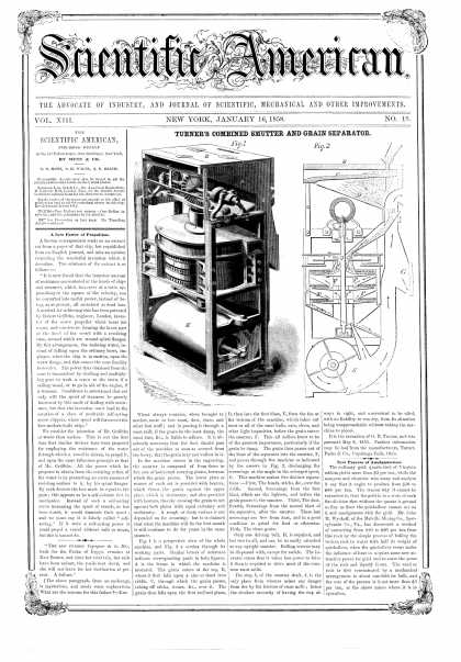 Scientific American - Jan 16, 1858 (vol. 13, #19)