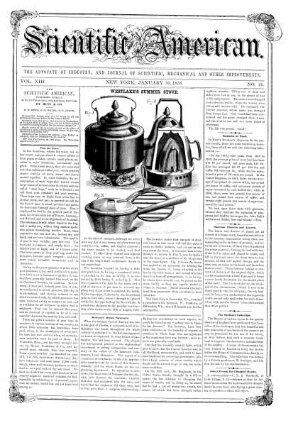 Scientific American - Jan 20, 1858 (vol. 13, #21)