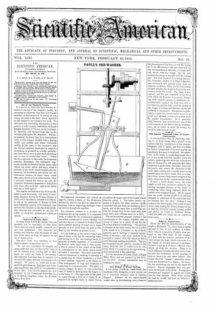 Scientific American - Feb 20, 1858 (vol. 13, #24)