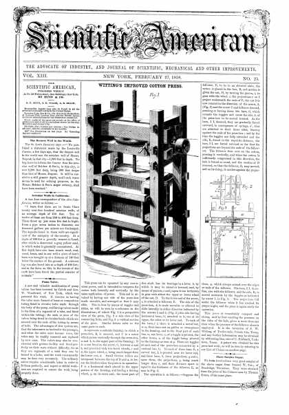Scientific American - Feb 27, 1858 (vol. 13, #25)