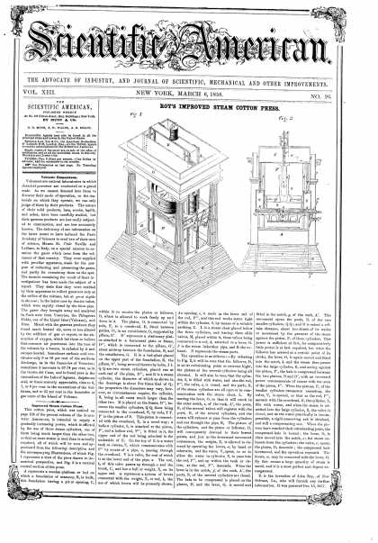 Scientific American - Mar 6, 1858 (vol. 13, #26)