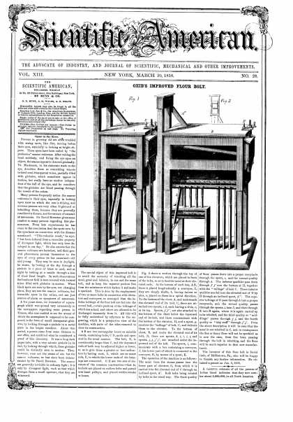 Scientific American - Mar 20, 1858 (vol. 13, #28)
