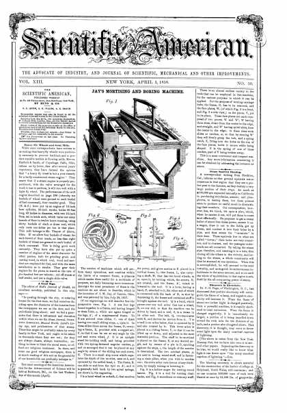 Scientific American - Apr 3, 1858 (vol. 13, #30)