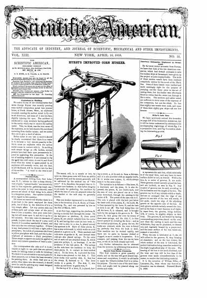 Scientific American - Apr 10, 1858 (vol. 13, #31)