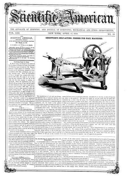 Scientific American - Apr 17, 1858 (vol. 13, #32)
