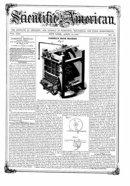 Scientific American - Apr 24, 1858 (vol. 13, #33)