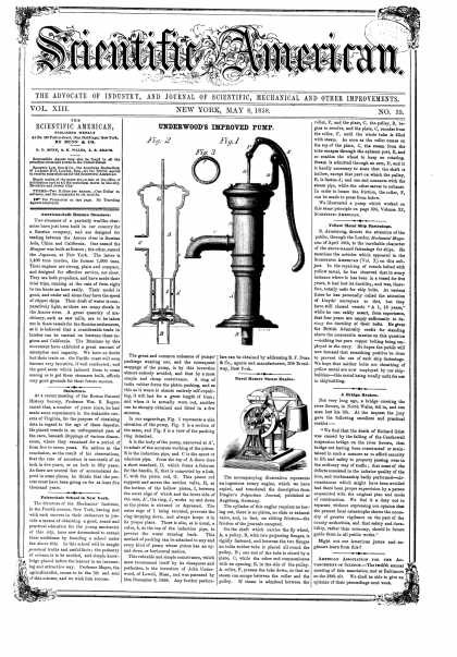 Scientific American - May 8, 1858 (vol. 13, #35)