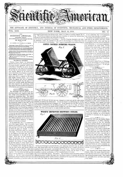 Scientific American - May 22, 1858 (vol. 13, #37)
