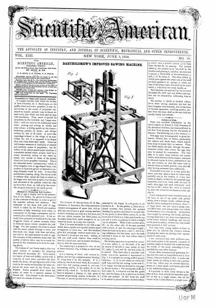 Scientific American - June 5, 1858 (vol. 13, #39)