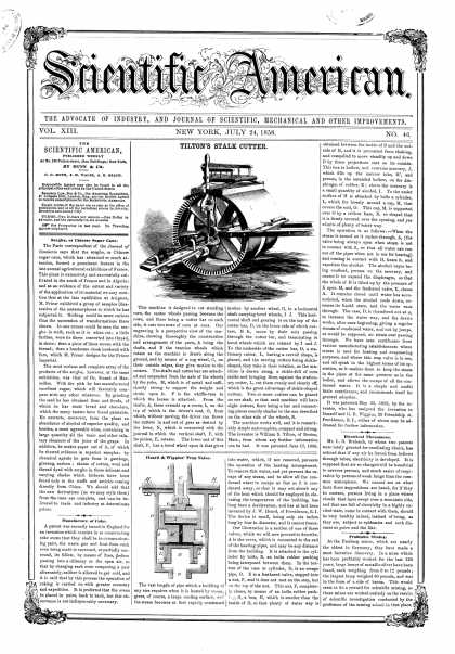 Scientific American - July 24, 1858 (vol. 13, #46)