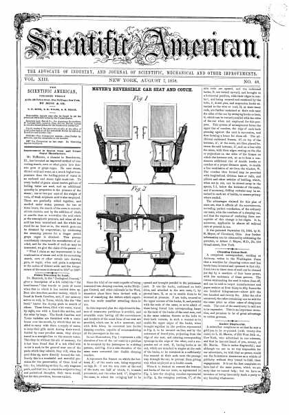 Scientific American - Aug 7, 1858 (vol. 13, #48)