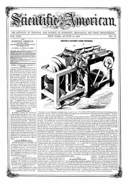 Scientific American - Aug 21, 1858 (vol. 13, #50)