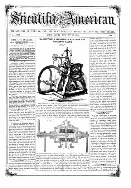 Scientific American - Aug 28, 1858 (vol. 13, #51)