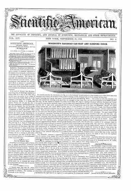 Scientific American - Sept 25, 1858 (vol. 14, #3)