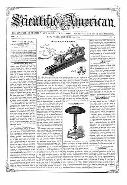 Scientific American - Oct 16, 1858 (vol. 14, #6)