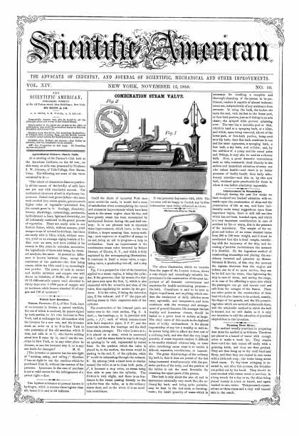 Scientific American - Nov 13, 1858 (vol. 14, #10)