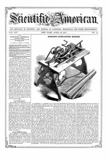 Scientific American - Apr 23, 1858 (vol. 14, #33)