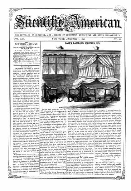 Scientific American - Jan 1, 1859 (vol. 14, #17)