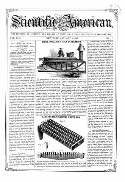 Scientific American - Jan 8, 1859 (vol. 14, #18)