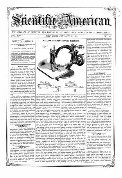 Scientific American - Jan 29, 1859 (vol. 14, #21)