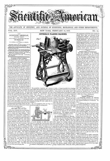 Scientific American - Feb 19, 1859 (vol. 14, #24)