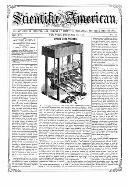 Scientific American - Feb 26, 1859 (vol. 14, #25)