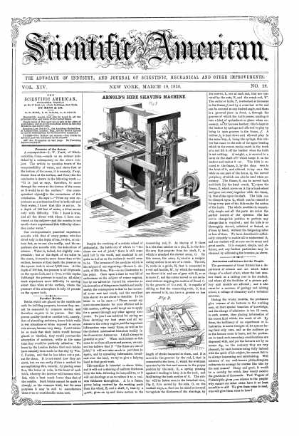 Scientific American - Mar 19, 1859 (vol. 14, #28)