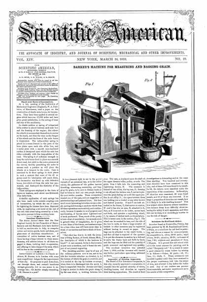 Scientific American - Mar 26, 1859 (vol. 14, #29)