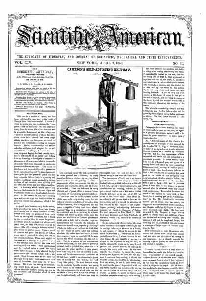 Scientific American - Apr 2, 1859 (vol. 14, #30)