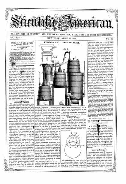 Scientific American - Apr 30, 1859 (vol. 14, #34)
