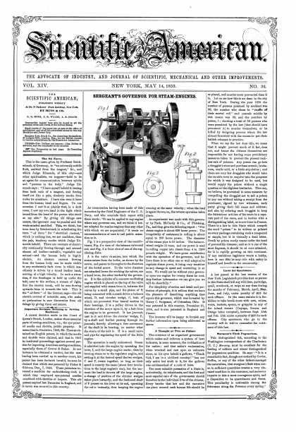 Scientific American - May 14, 1859 (vol. 14, #36)
