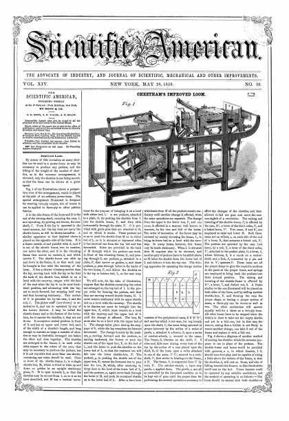 Scientific American - May 28, 1859 (vol. 14, #38)
