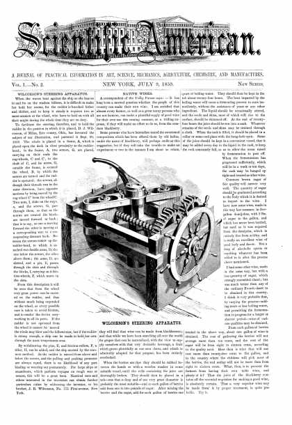 Scientific American - July 9, 1859 (vol. 1, #2)