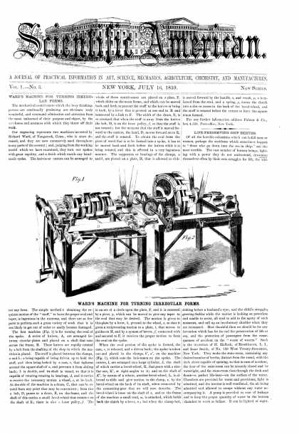 Scientific American - July 16, 1859 (vol. 1, #3)