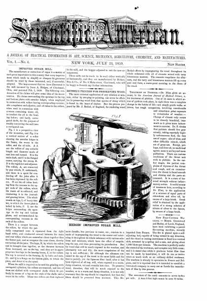 Scientific American - July 23, 1859 (vol. 1, #4)