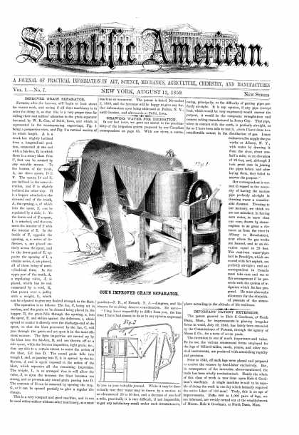 Scientific American - Aug 13, 1859 (vol. 1, #7)
