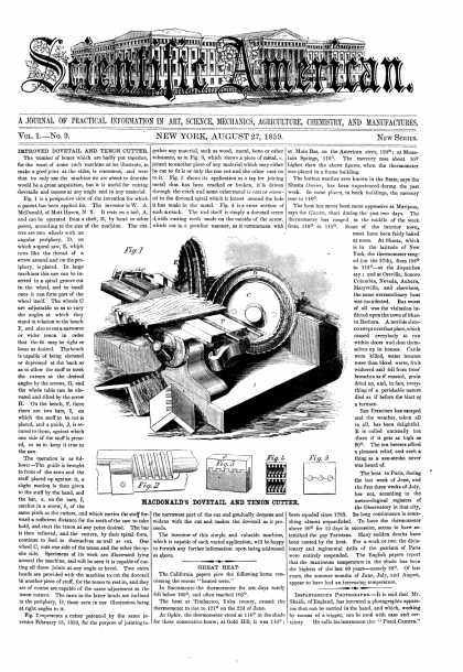 Scientific American - Aug 27, 1859 (vol. 1, #9)