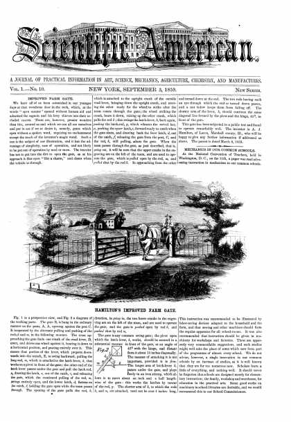 Scientific American - Sept 3, 1859 (vol. 1, #10)