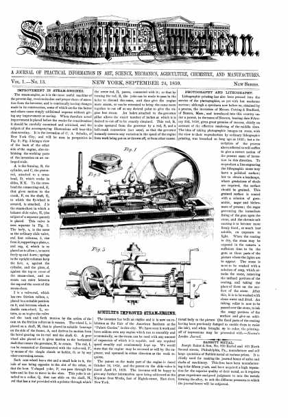 Scientific American - Sept 24, 1859 (vol. 1, #13)