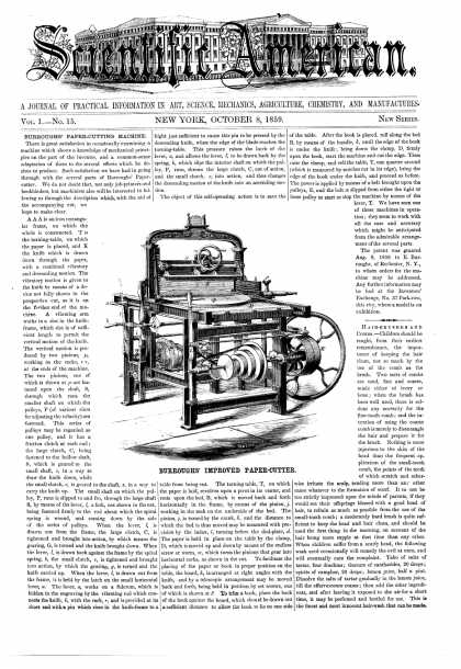 Scientific American - Oct 8, 1859 (vol. 1, #15)