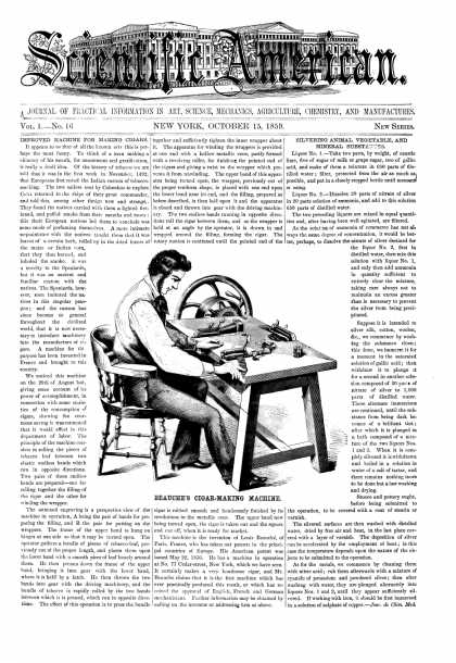 Scientific American - Oct 15, 1859 (vol. 1, #16)