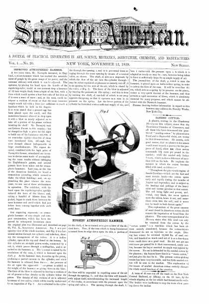 Scientific American - Nov 12, 1859 (vol. 1, #20)