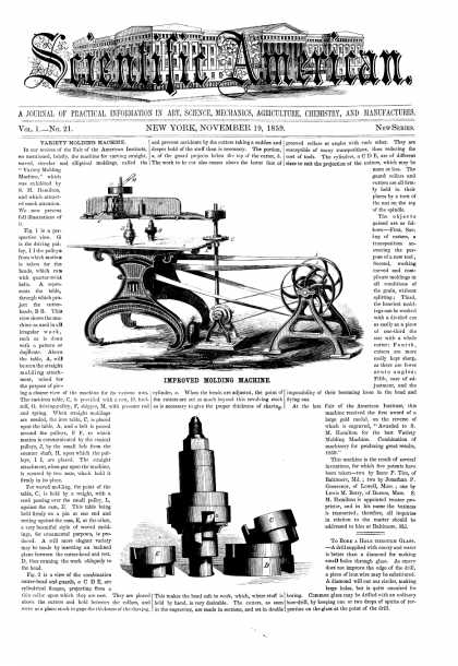 Scientific American - Nov 21, 1859 (vol. 1, #21)